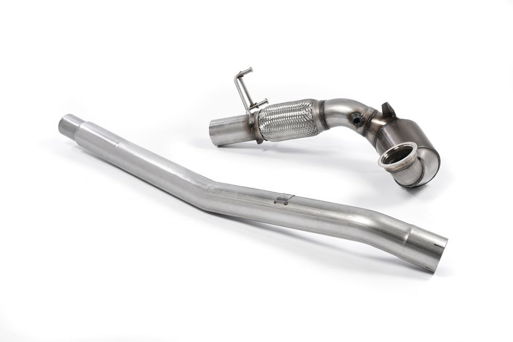 Milltek Large Bore Downpipe with Hi-Flow Sports Catalyst (For OE Cat-Back)  - 76mm (3